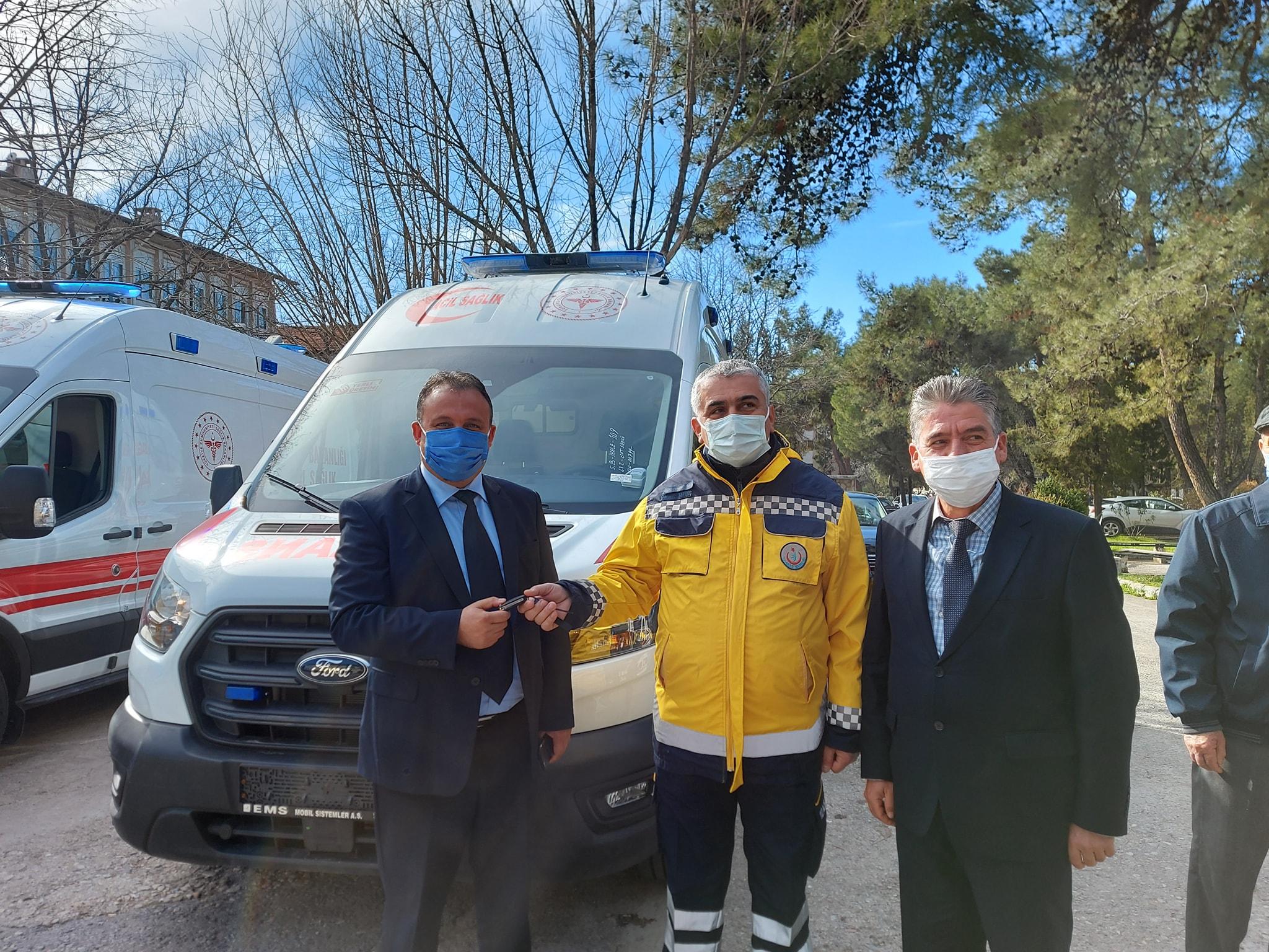 İlçemizin 112 Acil Sağlık Hizmet İstasyonundaki Hizmet Ağına 1 Adet Ambulansımız Daha Eklendi