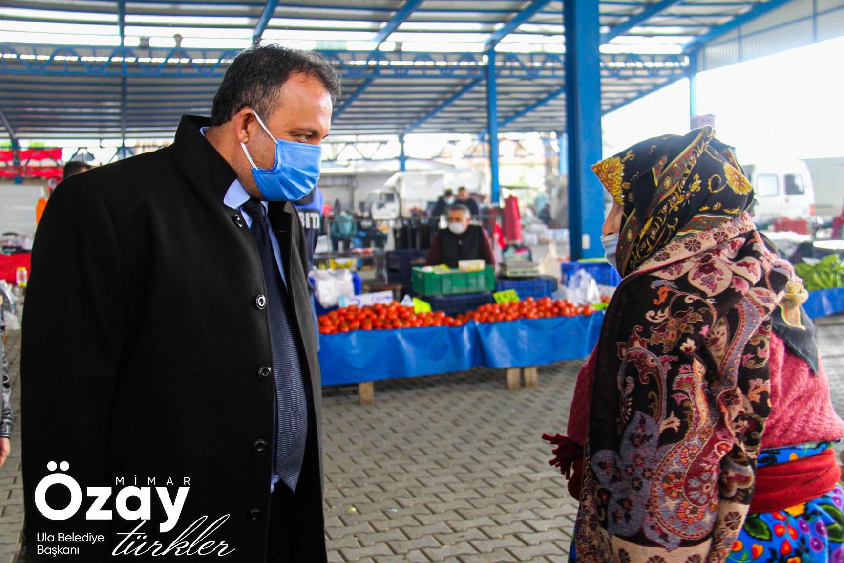 Belediye Başkanımız Sn. Mimar Özay Türkler İlçemiz Merkezi ve Karabörtlen Mahallemizde Pazar Ziyaretinde Bulundu
