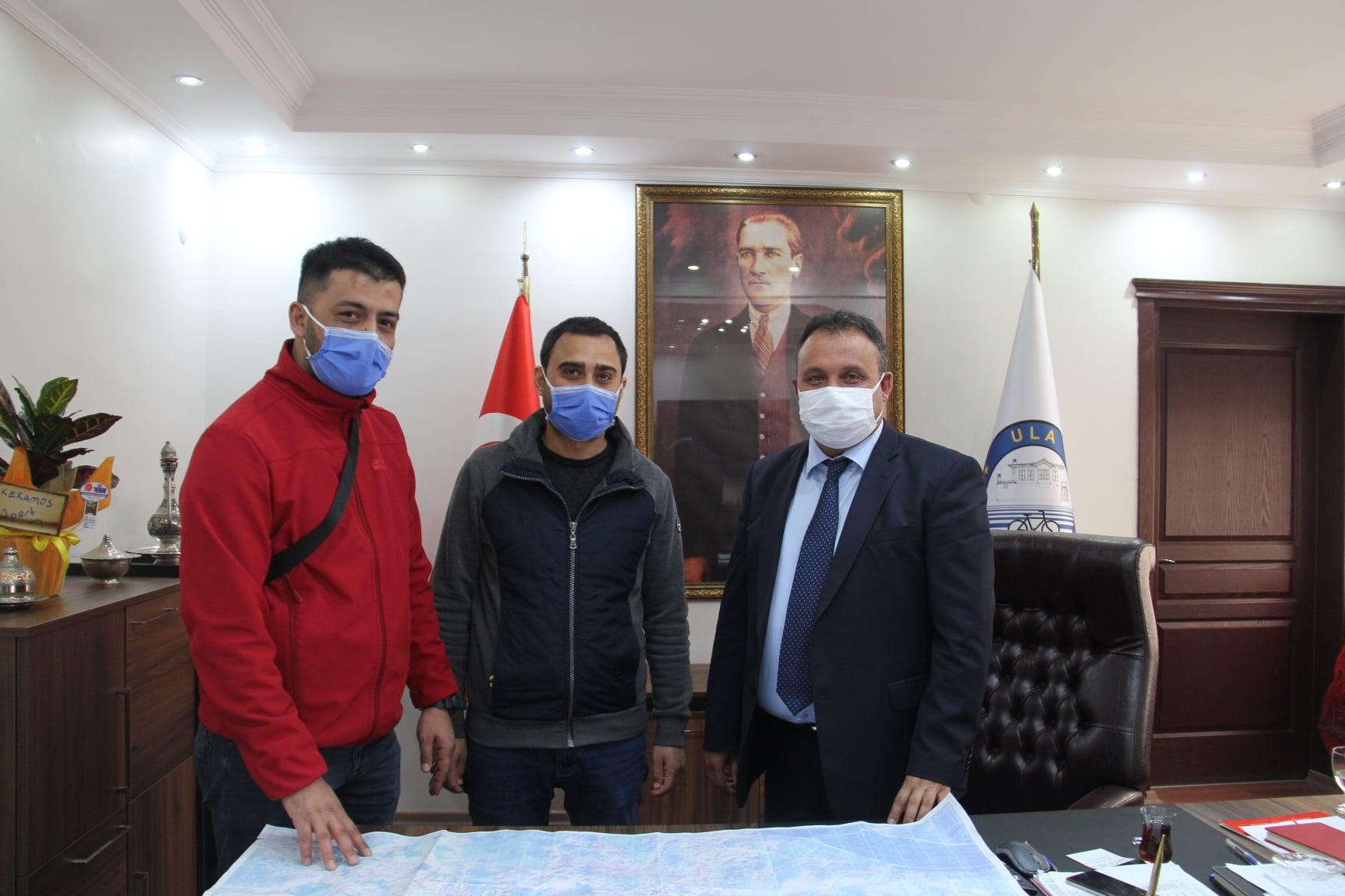 Muğla Türk Telekom Personelleri Belediye Başkanımızı Ziyaret Ederek İlçemizde Devam Eden Fiber Altyapı Projesi Hakkında Bilgi Verdi