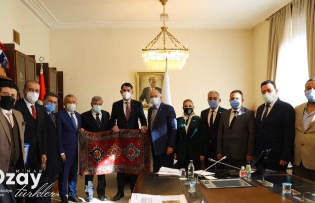 Belediye Başkanımız Sn. Özay Türkler Çevre ve Şehircilik Bakanımız Sayın Murat Kurum'u Ziyaret Etti