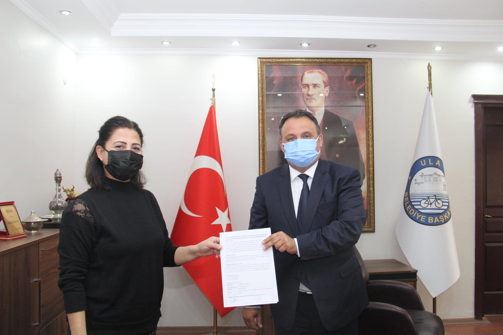 Belediyemiz ve Ula Tapu Müdürlüğü Arasında Emlak Beyan Değerlerinin Elektronik Ortamda İletilmesi Protokolü İmzalanmıştır